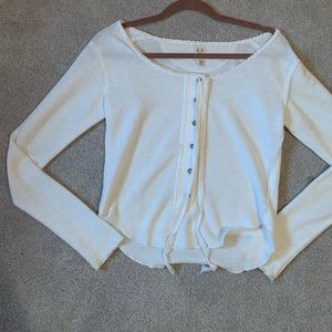 White Free People Long-Sleeve